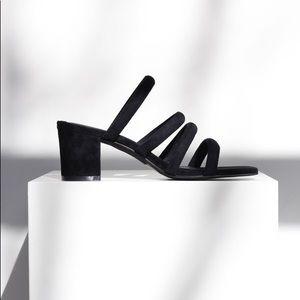 Sol Sana black mules